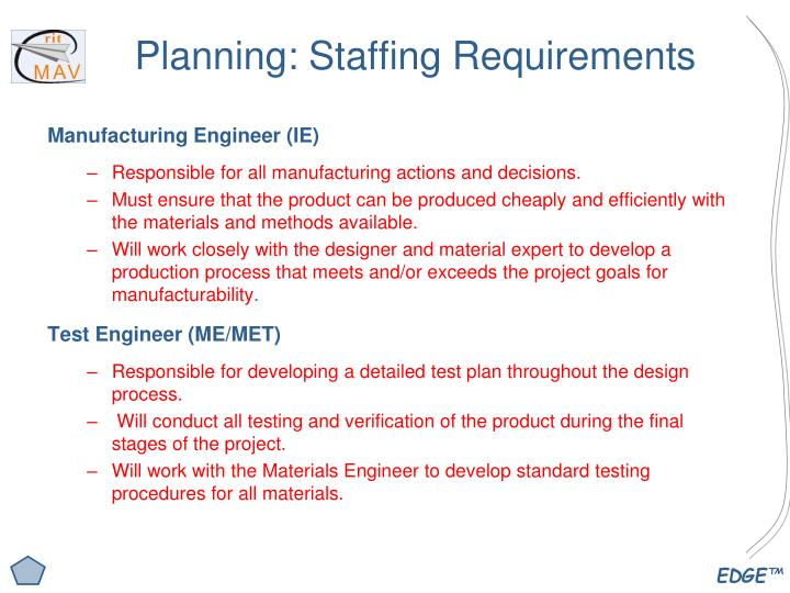 Planning: Staffing Requirements