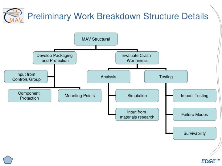 Preliminary Work Breakdown Structure Details