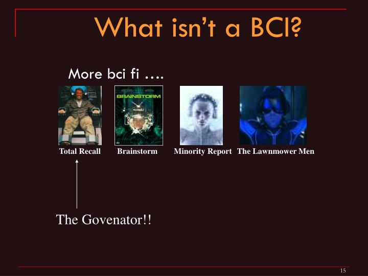 What isn't a BCI?