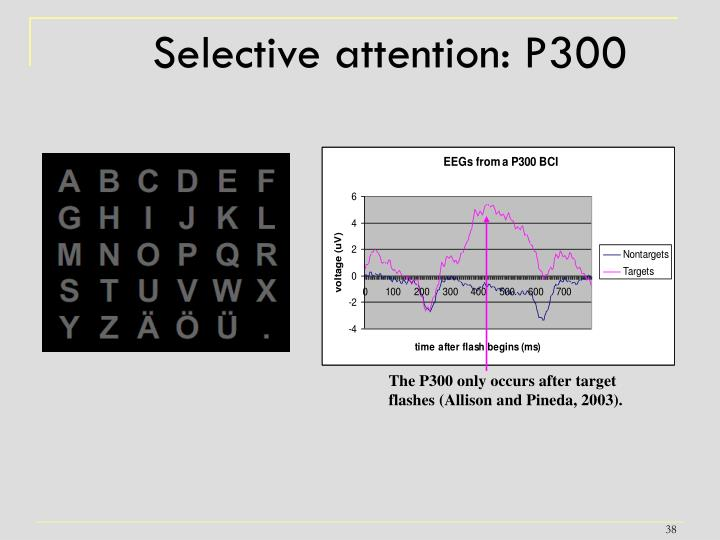 Selective attention: P300