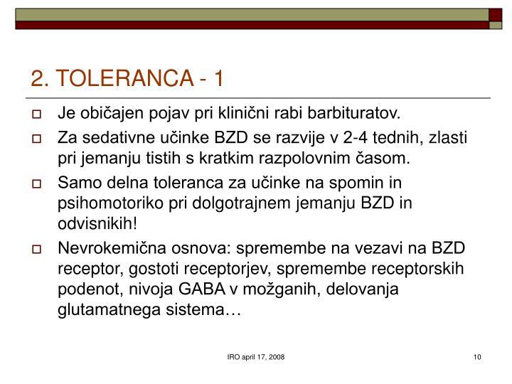 2. TOLERANCA - 1