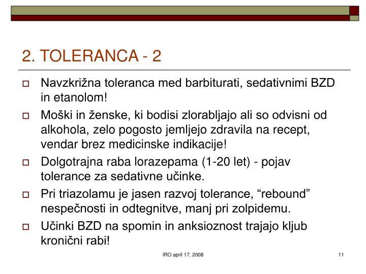 2. TOLERANCA - 2