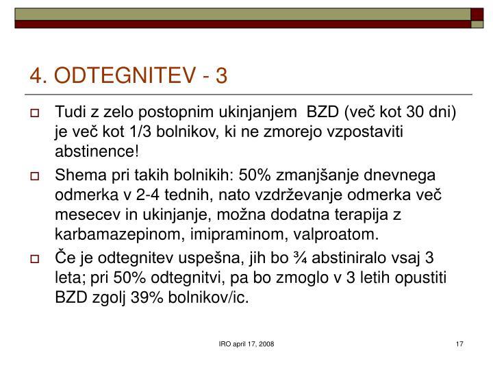 4. ODTEGNITEV - 3
