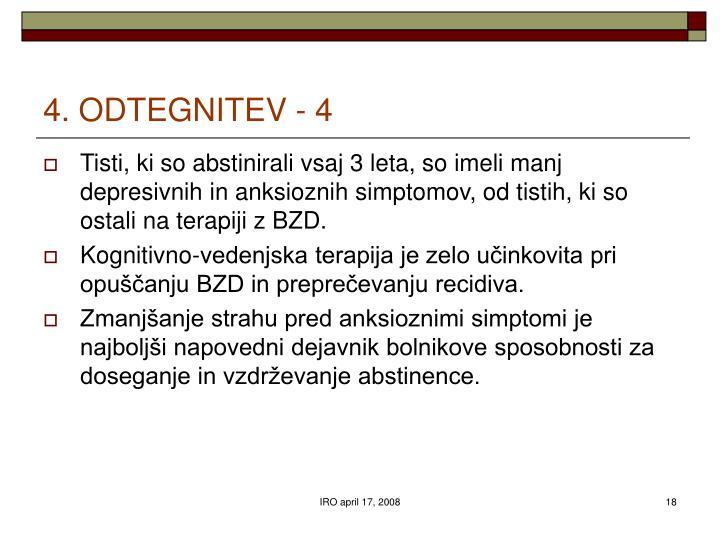 4. ODTEGNITEV - 4