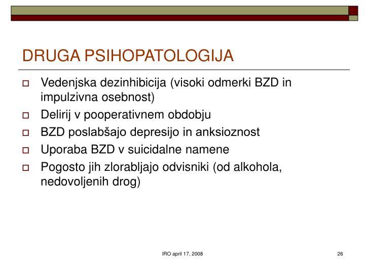 DRUGA PSIHOPATOLOGIJA