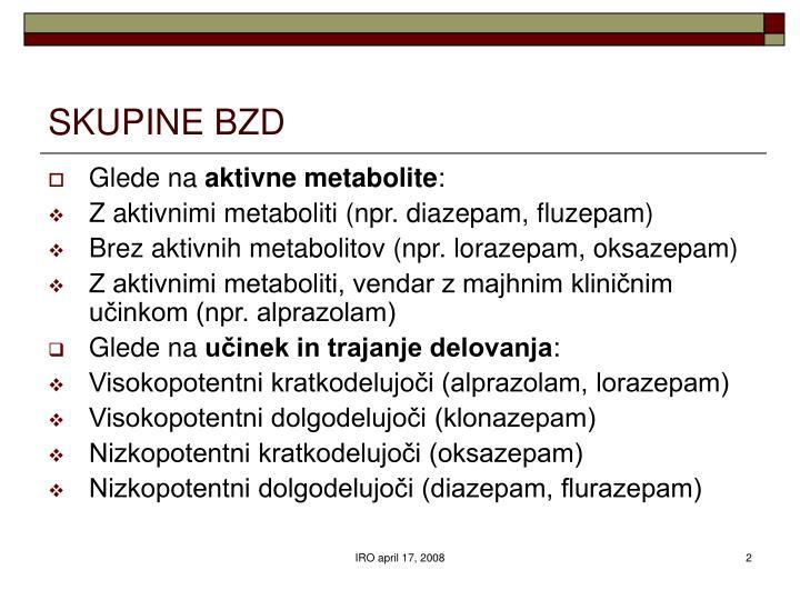 SKUPINE BZD