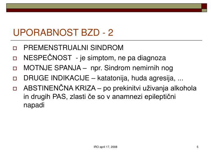 UPORABNOST BZD - 2