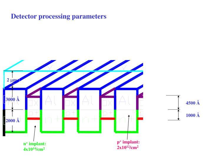 Detector processing parameters