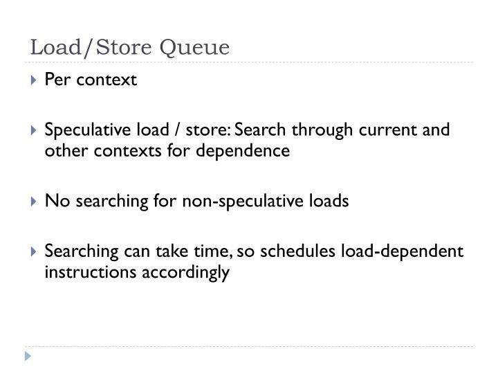 Load/Store Queue