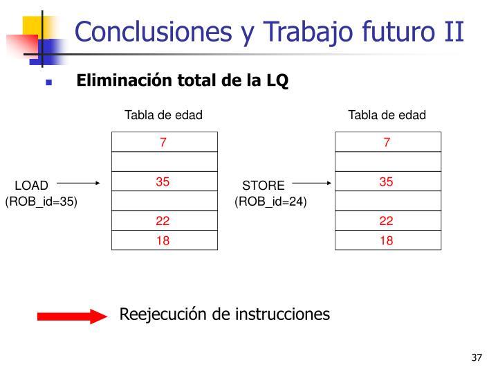 Conclusiones y Trabajo futuro II