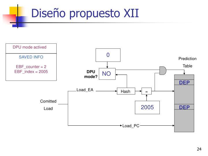Diseño propuesto XII