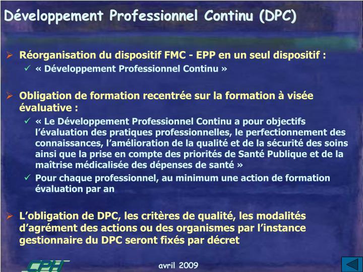 Développement Professionnel Continu (DPC)