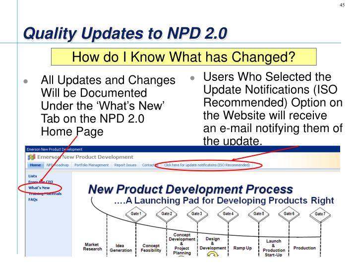 All Updates and Changes Will be Documented Under the 'What's New' Tab on the NPD 2.0 Home Page