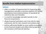 benefits from sebstat implementation