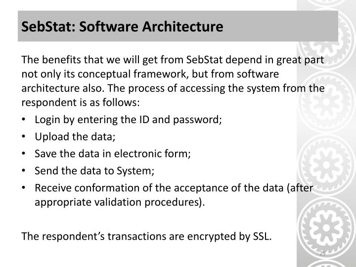SebStat: Software Architecture
