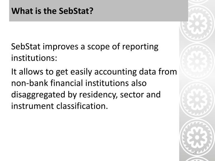 What is the SebStat?