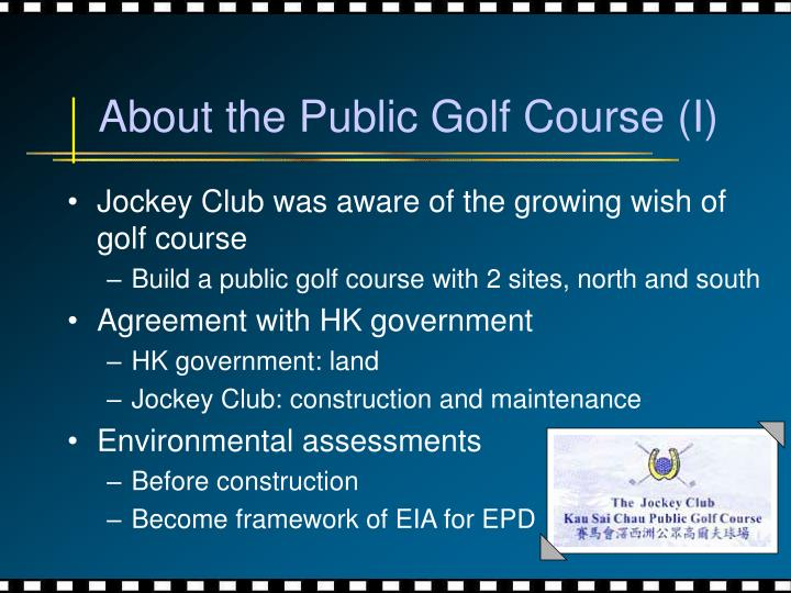 About the Public Golf Course (I)