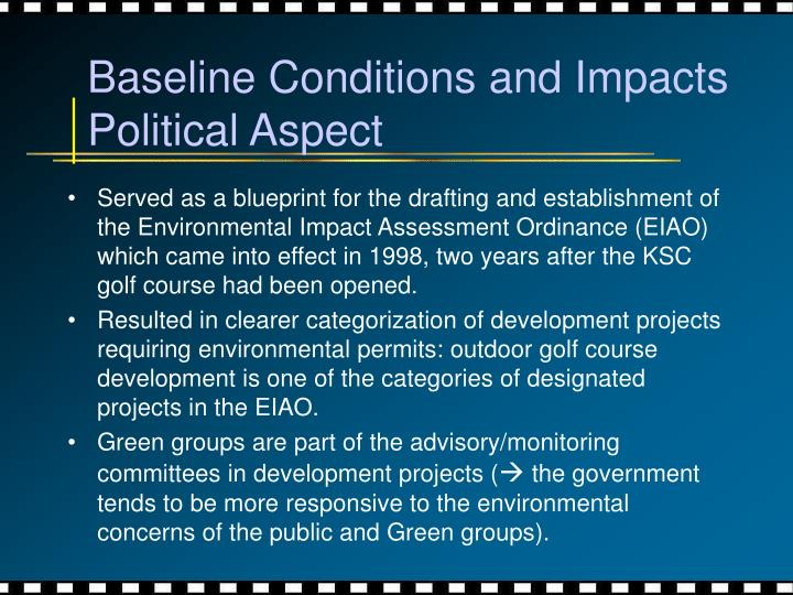 Baseline Conditions and Impacts