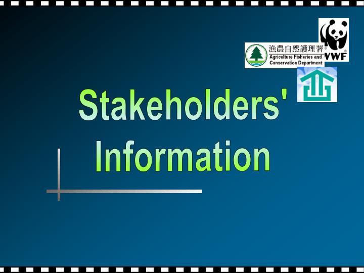 Stakeholders'
