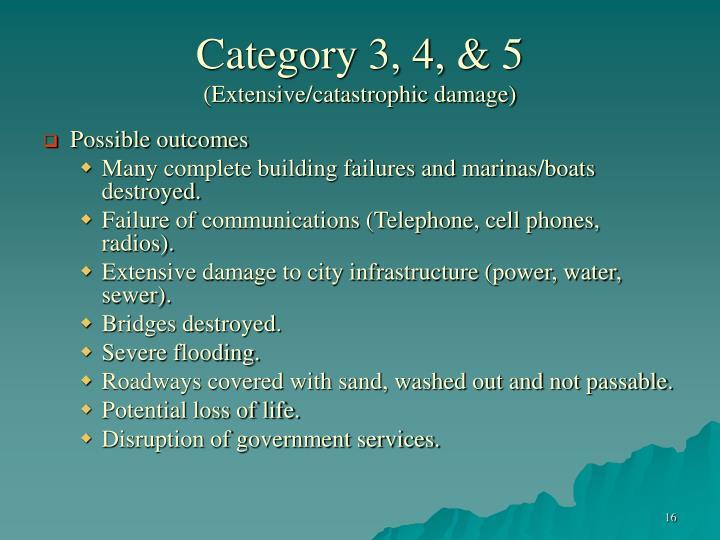Category 3, 4, & 5