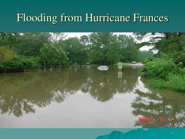 Flooding from Hurricane Frances