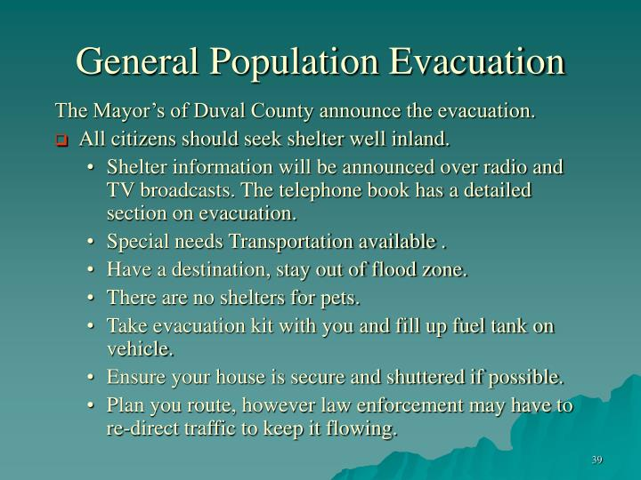 General Population Evacuation