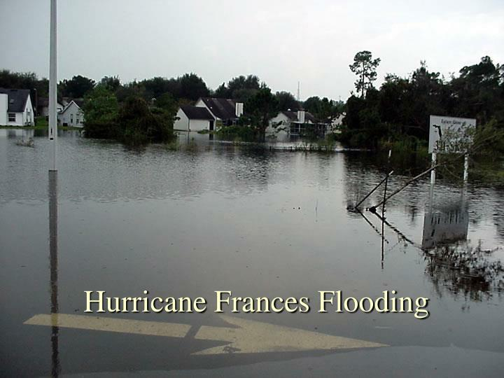 Hurricane Frances Flooding