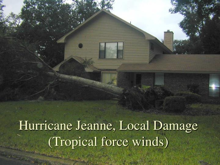 Hurricane Jeanne, Local Damage