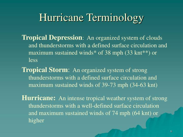 Hurricane Terminology
