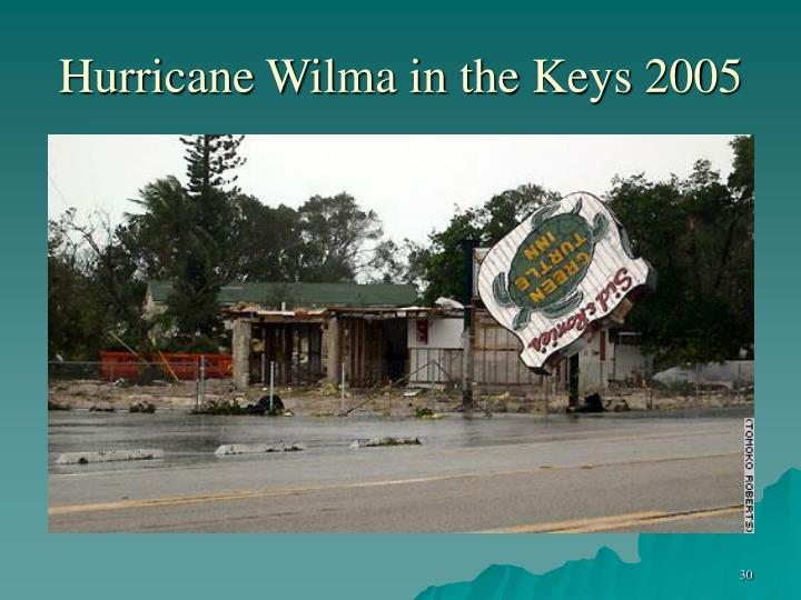 Hurricane Wilma in the Keys 2005