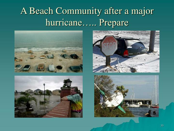 A Beach Community after a major hurricane….. Prepare