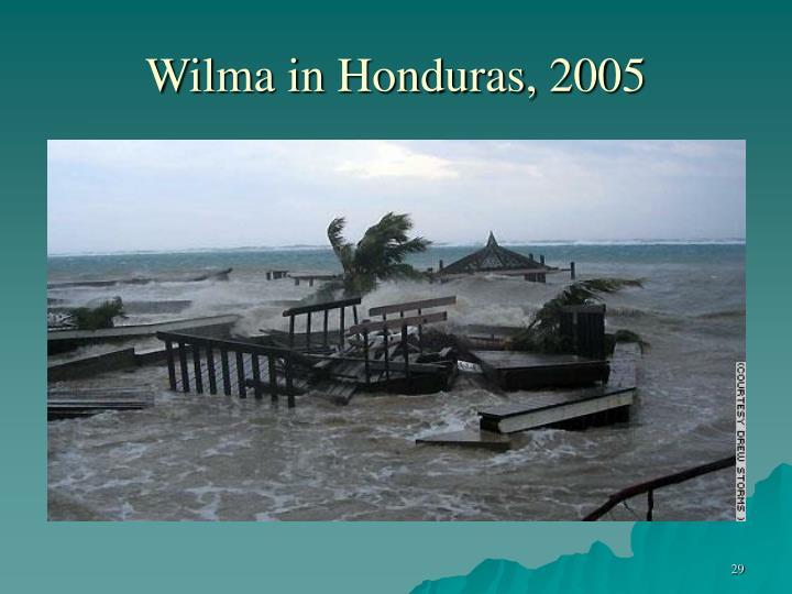 Wilma in Honduras, 2005