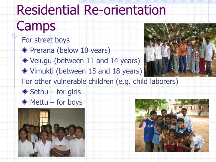 Residential Re-orientation Camps
