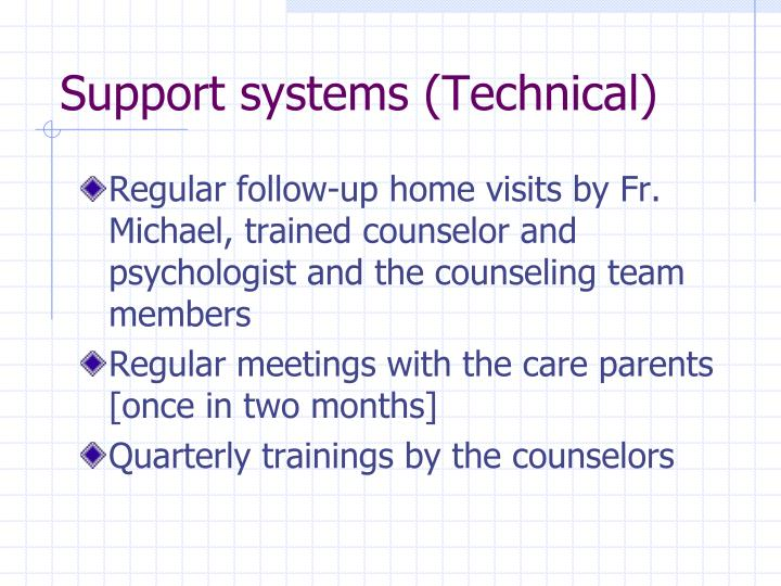 Support systems (Technical)