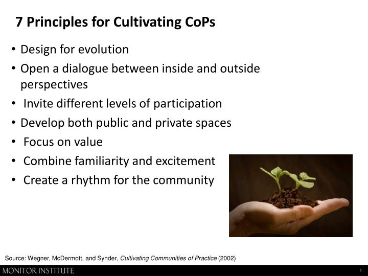 7 Principles for Cultivating CoPs