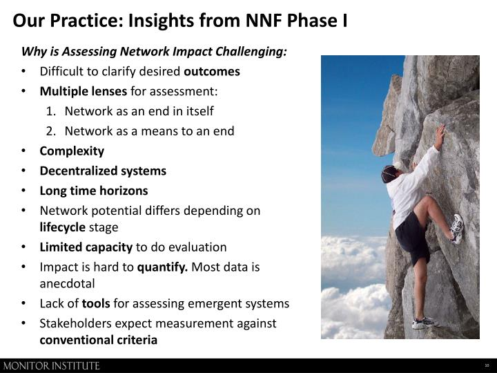Our Practice: Insights from NNF Phase I