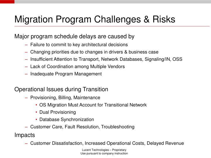 Migration Program Challenges & Risks