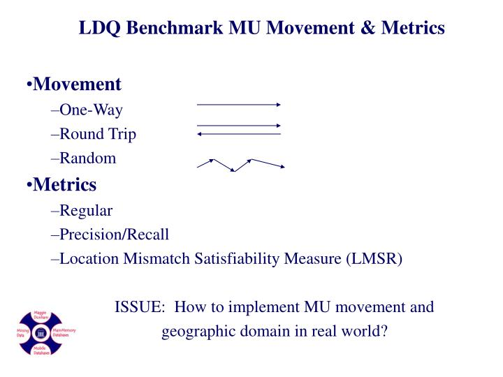 LDQ Benchmark MU Movement & Metrics