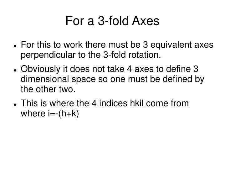 For a 3-fold Axes