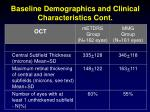 baseline demographics and clinical characteristics cont1
