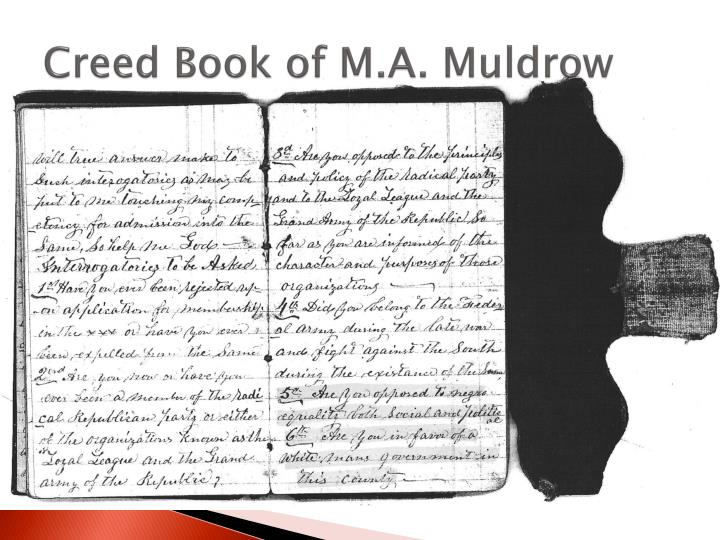 Creed Book of M.A. Muldrow