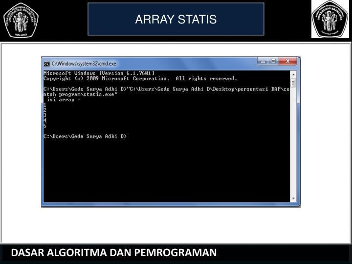 ARRAY STATIS