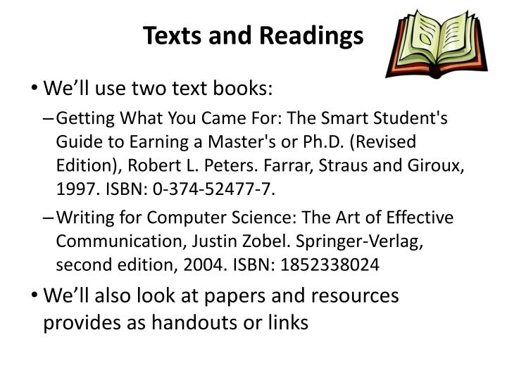 Texts and Readings