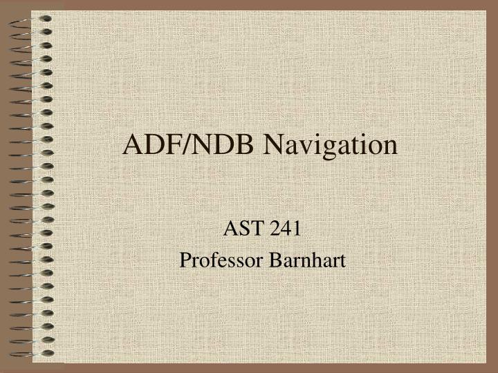 ADF/NDB Navigation