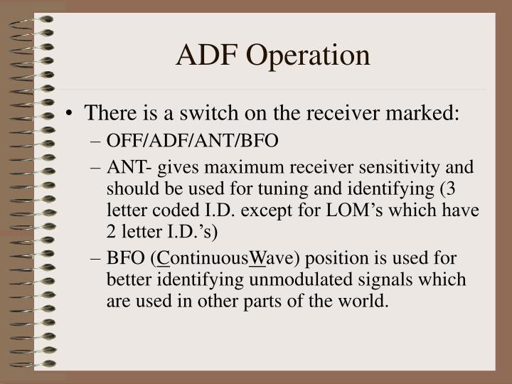 ADF Operation
