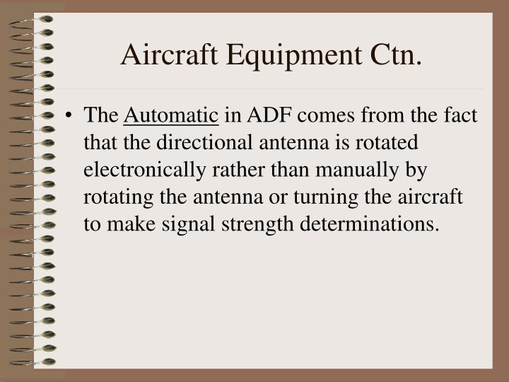 Aircraft Equipment Ctn.