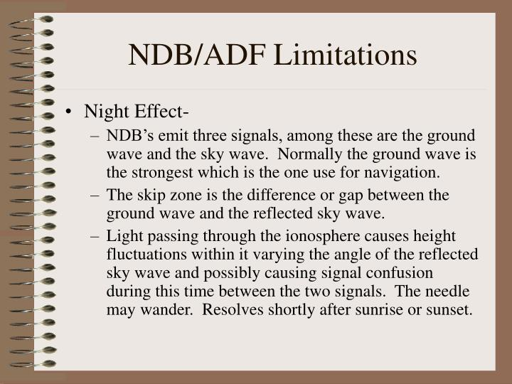 NDB/ADF Limitations