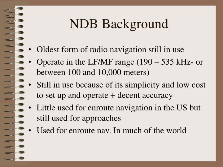 NDB Background