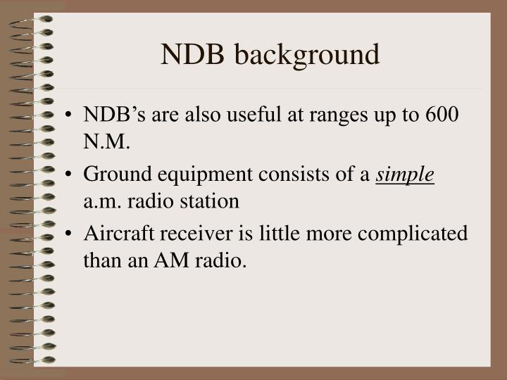 NDB background