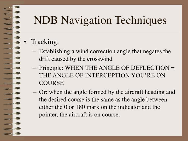 NDB Navigation Techniques